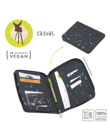 Lassig Casual Label Etui na dokumenty Blobs forest