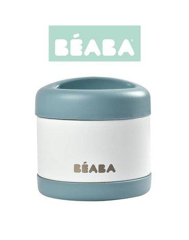 Beaba Pojemnik - termos obiadowy ze stali nierdzewnej z hermetycznym zamknięciem duży 500 ml baltic blue/white