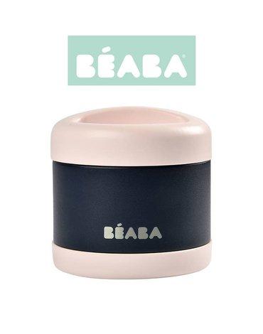 Beaba Pojemnik - termos obiadowy ze stali nierdzewnej z hermetycznym zamknięciem duży 500 ml light pink/night blue