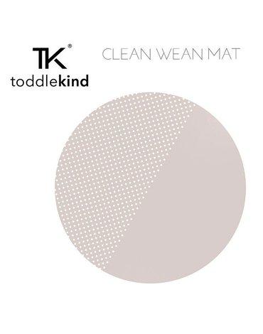 TODDLEKIND Mata ochronna podłogowa okrągła Clean Wean Mat Spotted Clay Beige