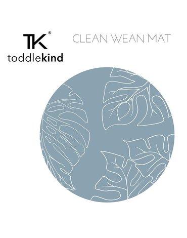 TODDLEKIND Mata ochronna podłogowa okrągła Clean Wean Mat Jungle Teal Blue