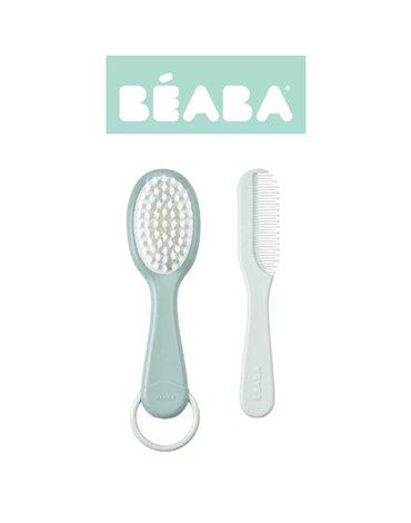 Beaba Szczoteczka do włosów i grzebień Green Blue (opakowanie zbiorcze 6 szt.)
