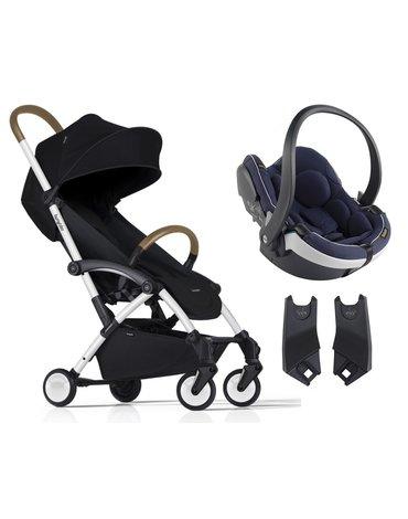 ZESTAW Wózek Bumprider Connect biały/czarny + Fotelik iZi Go Mod. -50%