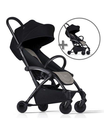 ZESTAW Wózek Bumprider Connect czarny/khaki + drugi wózek  -50%