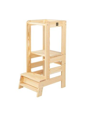 MeowBaby® Kitchen Helper Pomocnik Kuchenny dla Dziecka, Naturalne drewno