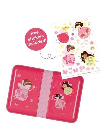 A Little Lovely Company - Śniadaniówka Lunchbox Wróżki z naklejkami
