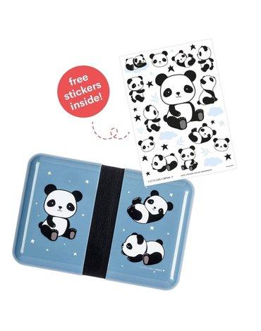 A Little Lovely Company - Śniadaniówka Lunchbox Panda z naklejkami