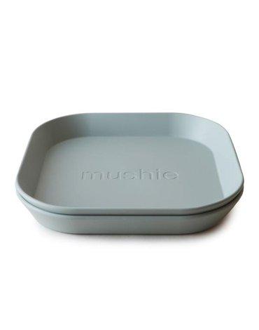 Mushie - 2 talerzyki Square Sage