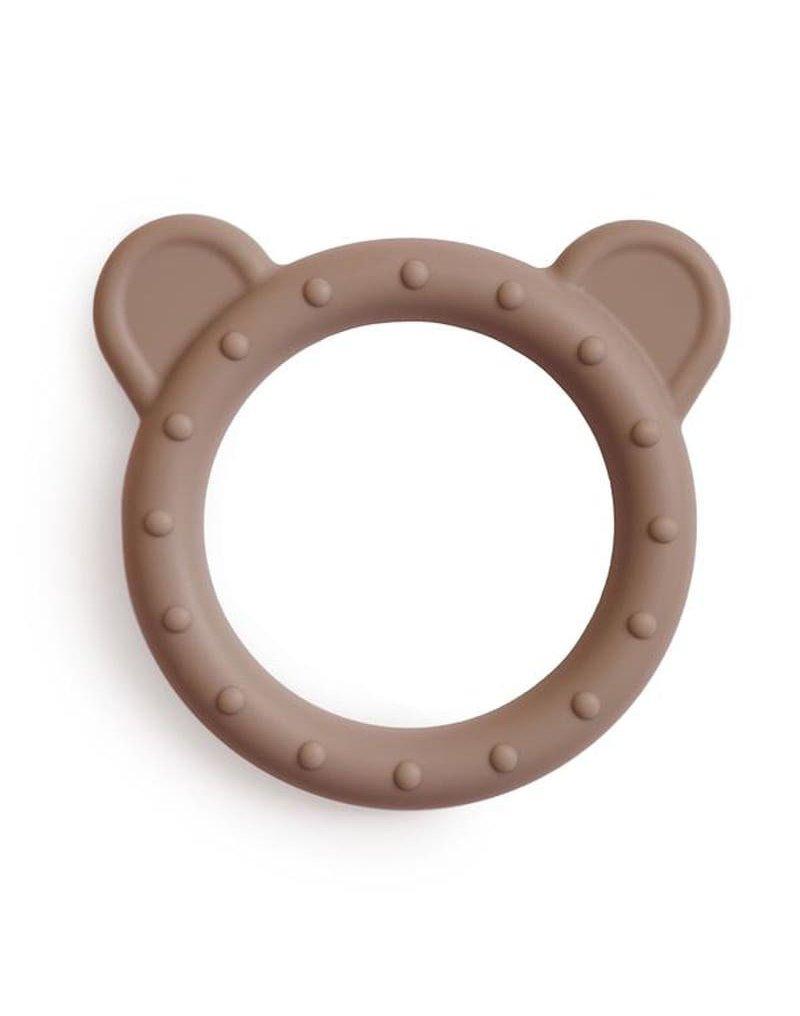Mushie - Gryzak silikonowy bransoletka BEAR Natural mushie