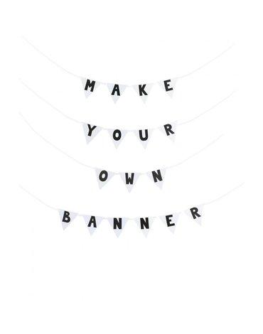 JaBaDaBaDo - Girlanda stwórz własny baner czarna