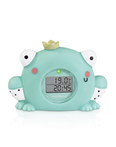 Miniland - Termometr kąpielowy i pokojowy z zegarem -Żabka