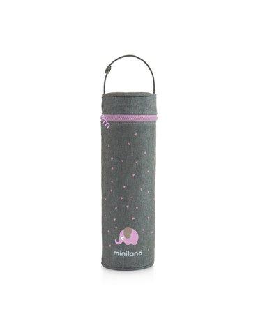Miniland - Termoopakowanie Azure-Rose na termos/butelkę 500ml - szary/różowy