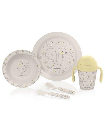 Miniland - Bambusowy zestaw do jedzenia dla dzieci ECO-friendly - Wiewiórka