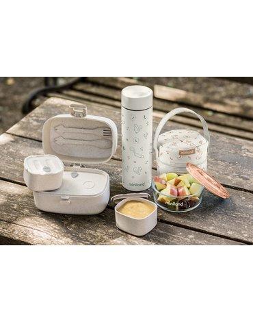 Miniland - Hermetyczny zestaw podróżny do karmienia ECO-friendly