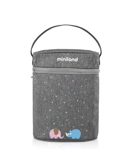 Miniland - Termoopakowanie Azure-Rose na termosy/butelki 500ml - szare