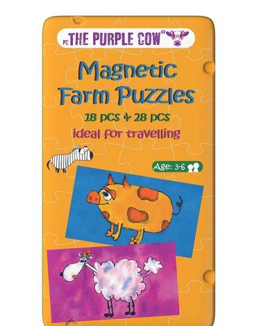 Gra magnetyczna The Purple Cow - Puzzle Farma