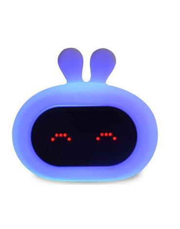 InnoGIO Silikonowa lampka nocna z zegarem GIOrabbit GIO-135