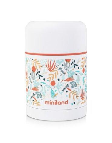 Miniland - Termos do posiłków 600ml z powłoką - śródziemnomorski