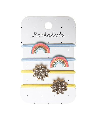 Rockahula Kids - 4 gumki do włosów Rainbow Bright
