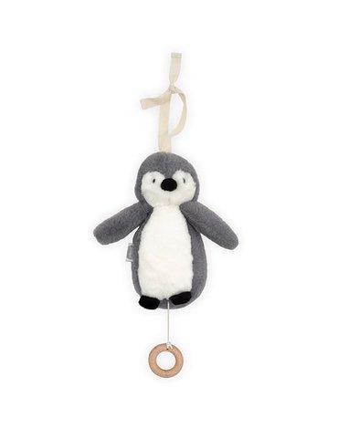 Jollein - Baby & Kids - Jollein - Pozytywka do usypiania Pingwin STORM GREY