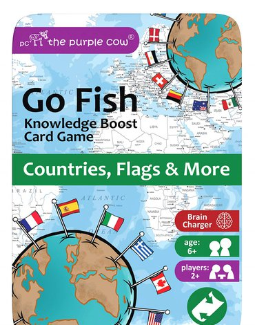 Podróżna gra karciana The Purple Cow - Go Fish Kraje, Flagi i inne