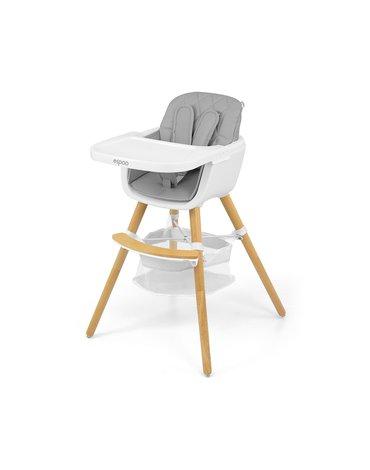 Milly Mally - Krzesełko do karmienia 2w1 Espoo Grey