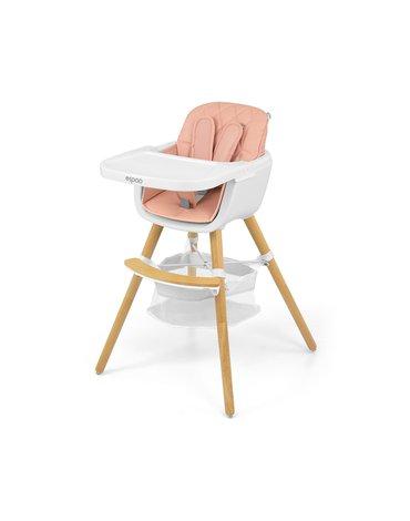 Milly Mally - Krzesełko do karmienia 2w1 Espoo Pink