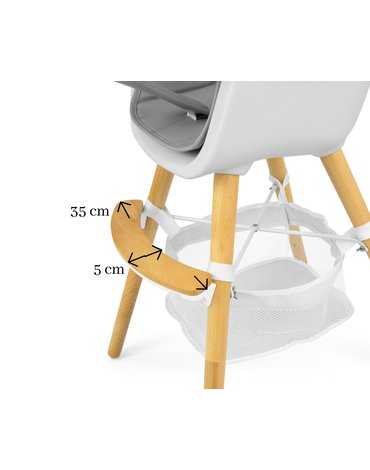 Milly Mally - Krzesełko do karmienia 2w1 Espoo Blue