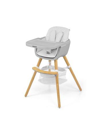 Milly Mally - Krzesełko do karmienia 2w1 Espoo White