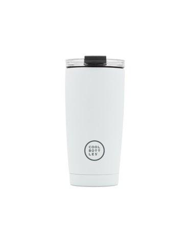 COOLBOTTLES - Cool Bottles Kubek termiczny 550 ml Triple cool Mono White