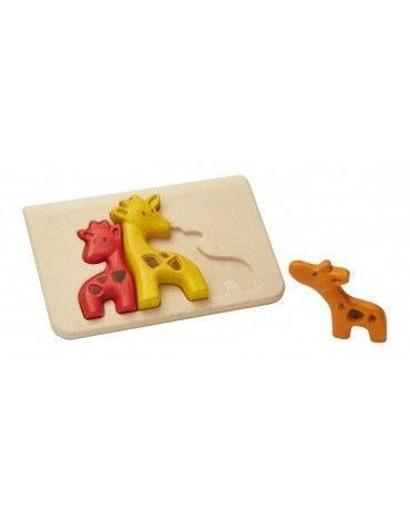 Żyrafy - Puzzle drewniane, Plan Toys USZKODZONE OPAKOWANIE!