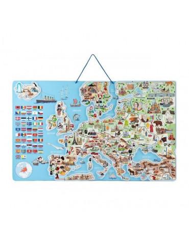 Woody - Magnetyczna mapa Europy XXXL