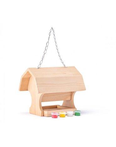 Woody - Drewniany karmnik dla ptaków - do pomalowania