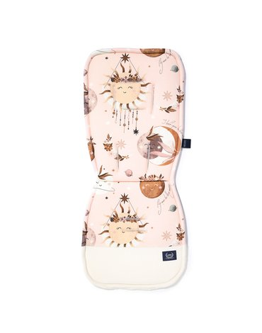 LA MILLOU - ORGANIC JERSEY COLLECTION - STROLLER PAD - FLY ME TO THE MOON NUDE - VELVET RAFAELLO
