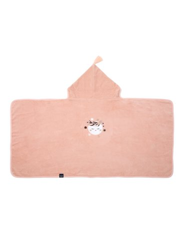 LA MILLOU - RĘCZNIK BAMBOO SOFT - KID - BY WHATANNAWEARS - POWDER PINK - FLY ME TO THE MOON NUDE