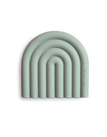 Mushie - Gryzak silikonowy RAINBOW Cambridge Blue