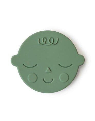 Mushie - Gryzak silikonowy FACE Pistachio