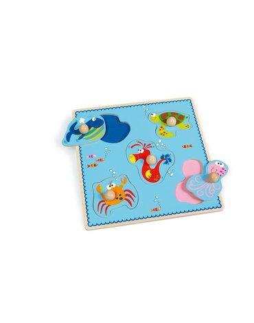 Scratch - Puzzle z uchwytem ' Morze '