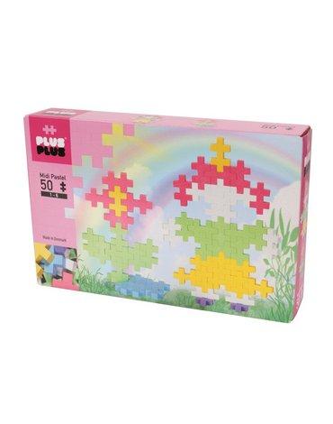 Plus - Plus - Plus-Plus, Midi Pastel - 50 szt. - Dziewczynka i Kwiatek