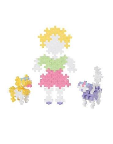 Plus - Plus - Plus-Plus, Midi Pastel - 150 szt. - Dziewczynka i Zwierzątka