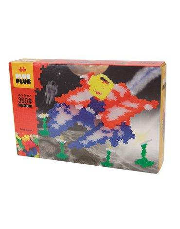Plus - Plus - Plus-Plus, Mini Neon - 360 szt. - Statek kosmiczny