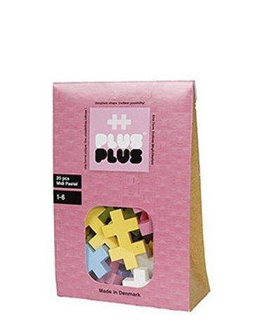 Plus - Plus - Plus-Plus, Midi Pastel - 20 szt.