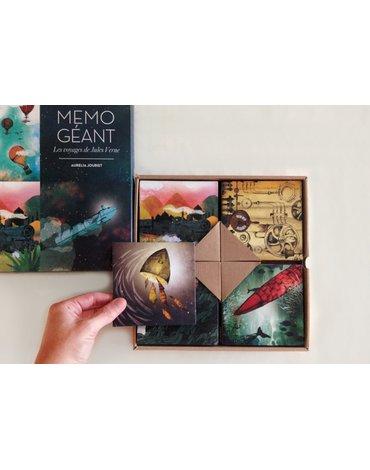 Mon Petit Art - Memo geant 'Les voyages de Jules Verne'