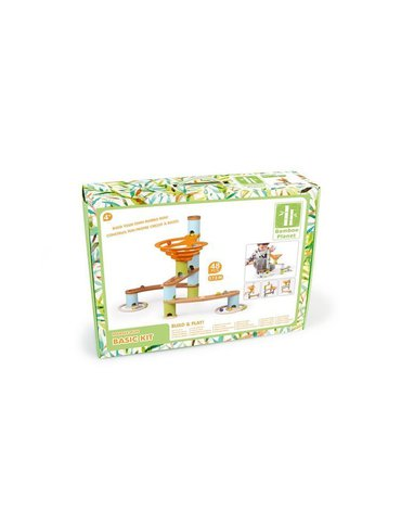 Geo Kids/Navir/DAM - Bamboo Planet, Bambusowy kulodrom /tor kulkowy pastel 48 elem.