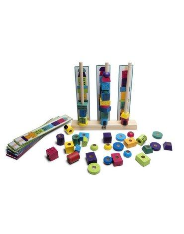BS Toys, drewniana układanka Wieża klocki
