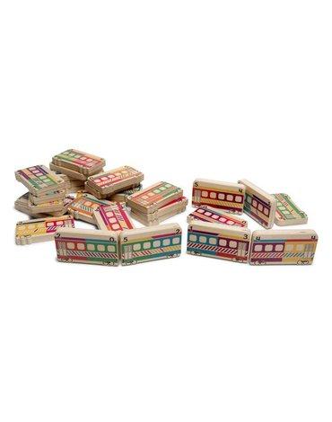 BS Toys, drewniane domino Pociągi ( 5 sposobów łączenia)