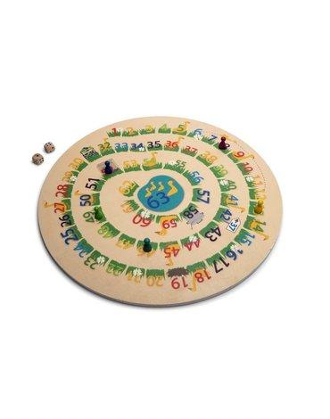 BS Toys, 2w1 drewniany Chińczyk z kartami / Gęś