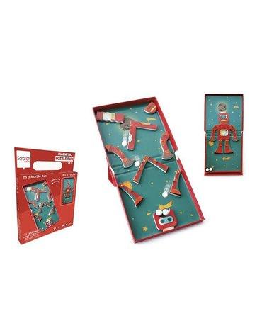 Scratch, magnetyczne puzzle Robot i tor kulek gra 2w1