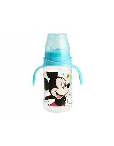 Lulabi - Butelka Antykolkowa z Silikonowym Smoczkiem i Uchwytami, Myszka Mickey, 300 ml, 6m+