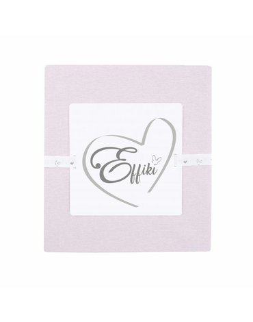 Effiki - Prześcieradło z gumką 100% bawełny - Pudrowy róż 60x120